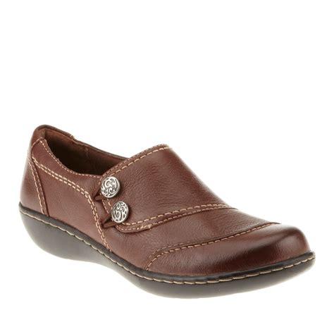 clarks bendables ashland alpine slip on shoes mid brown 7