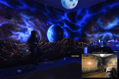 Floor And Decor Jobs by Artist Paints Rooms With Murals That Glow Under Blacklight