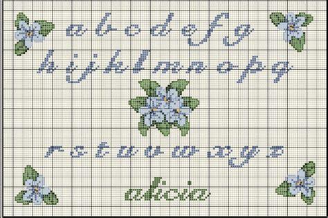 lettere in corsivo a punto croce punto croce alfabeti