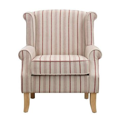 red striped armchair red stripe edinburgh armchair dunelm