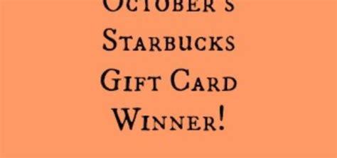 Starbucks Gift Card Through Email - december starbucks gift card winner