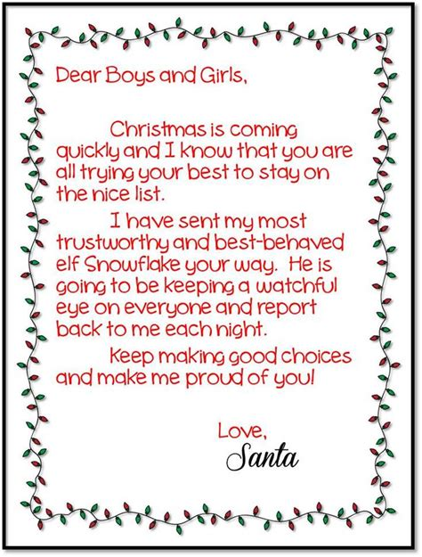 elf on the shelf welcome letter from santa printable elftastic adventures a classroom elf on the shelf link