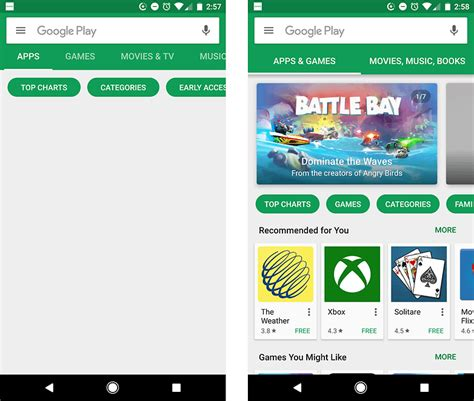 Play Store Home Screen Now And The Play Store Are Issues Due To
