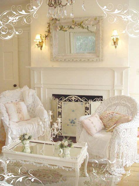 shabby chic living room in white
