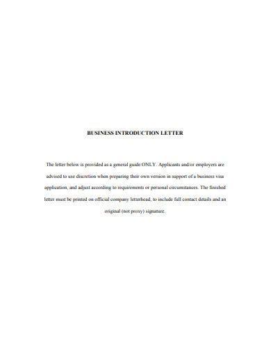 company introduction letter templates google docs