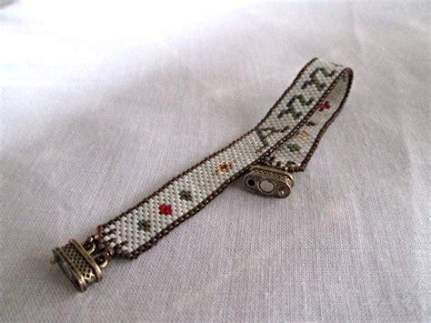 Handmade Bracelets With Names - peyote name bracelet handmade personalized cuff