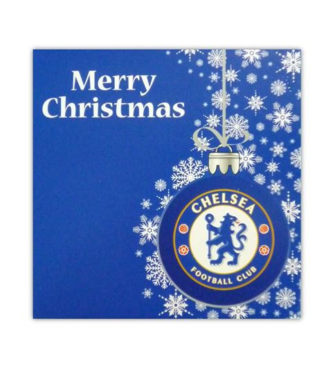 chelsea christmas card family football apparel