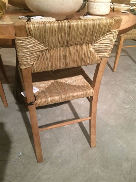 Seagrass Dining Chair Small Stewart Teak And Seagrass Dining Chair Mecox Gardens