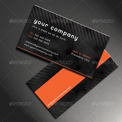 modern cards modern business card graphicriver