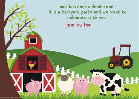farm themed birthday invitations free printable farm animals birthday invitation template