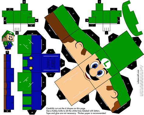 Luigi Papercraft - papercraftmania papercraft luigi