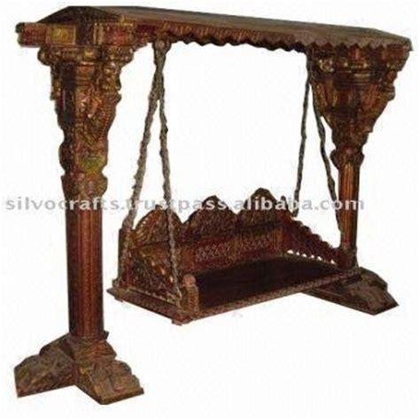 antique wooden swing royal indian rajasthani jodhpur hand carved wooden swing
