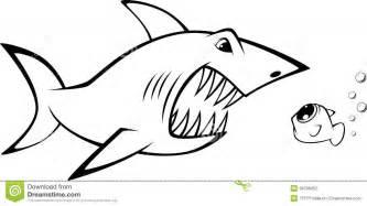 shark and fish stock vector image 39768452