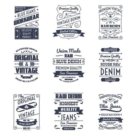 design label jeans vintage denim labels creative vector vector label free