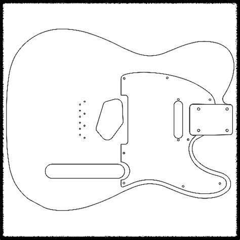 guitar routing templates telecaster guitar routing templates 1 4 quot clear acrylic