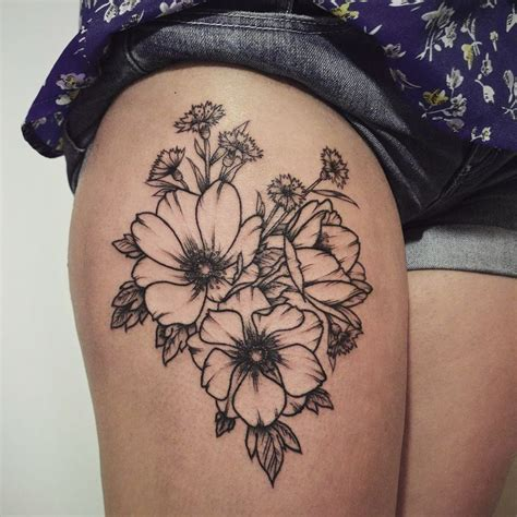 small leg tattoos for girls floral thigh designs ideas and meaning tattoos