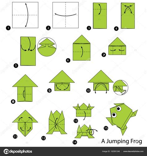 Origami Frog Step By Step - step by step how to make origami a jumping