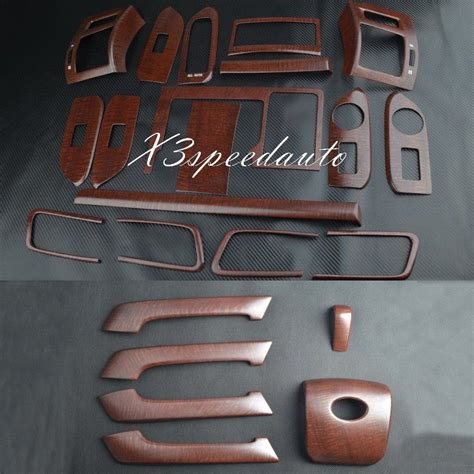 Toyota Set Panel Wood wood grain dash trim kit set for toyota fj150 10 16 prado land cruiser lhd ebay