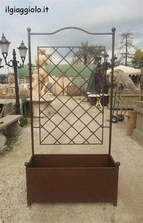 fioriere in ferro prezzi fioriera a vasca rettangolare in ferro battuto con