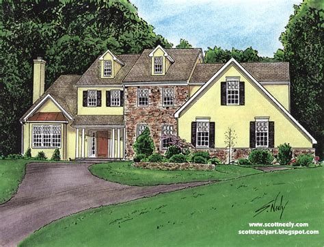 drawing of houses house drawing color drawings home building plans 32983