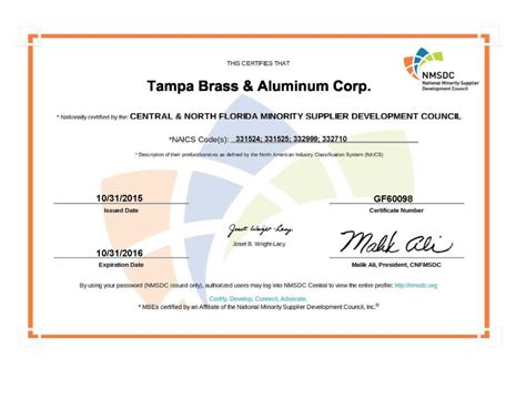 eicc gesi conflict minerals reporting template certifications ta brass aluminum corporation