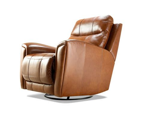 Leather Swivel Recliners by American Made Reclining Swivel Leather Chairs Clp103