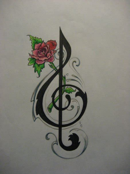 flower tattoo notes music note tattoo desing by dunny0486 on deviantart