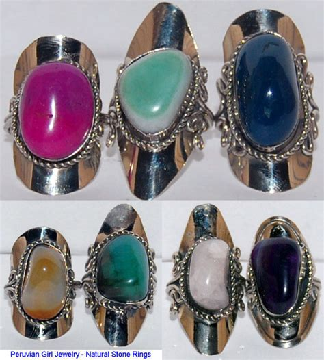 agate stones for jewelry 5 rings peruvian quartz agate jewelry wholesale ebay