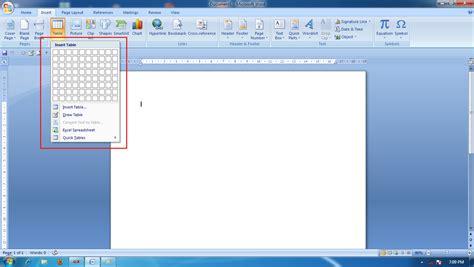 membuat organigram di word 2007 cara membuat tabel di ms word belajar mengetik di komputer