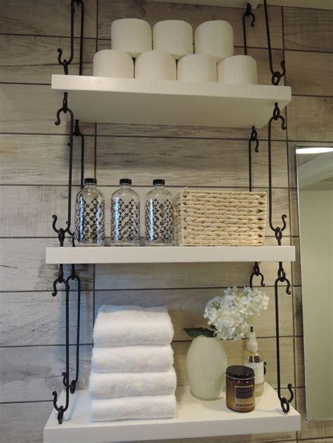 powder room shelves powder room hanging shelves hgtv 2015 smart home