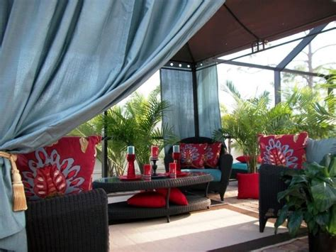 10 Relaxing Outdoor Curtain Designs Rilane Outdoor Patio Curtain Ideas