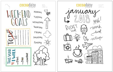 printable january map january 2018 free planner printables maps cocoa daisy