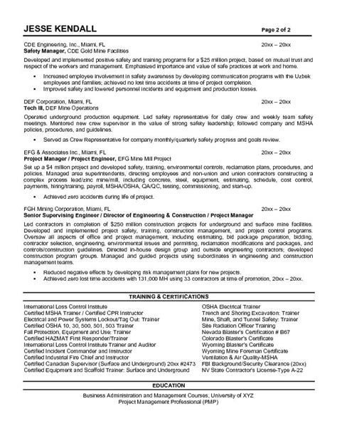 construction resume exles and sles superintendent resumes resume template