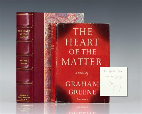 the of the matter graham greene the of the matter graham greene edition signed