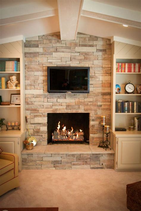 stacked stone fireplace for the home pinterest fireplace ledgestone ledgestone fireplace for luxurious