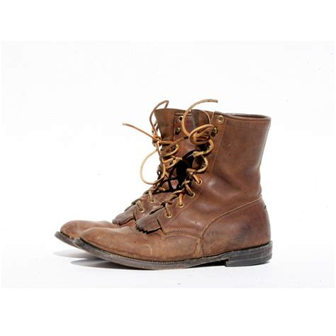 mens brown leather lace up boots size 9 mens brown leather lace up boots