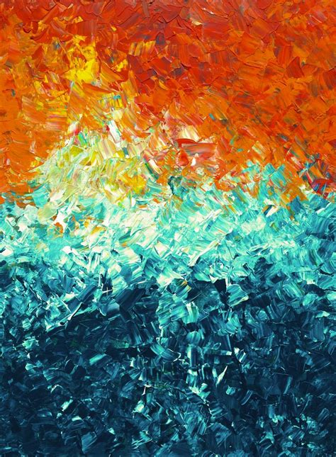 Painting For by Original Abstract Impasto Canvas Painting Acrylic
