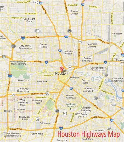 road map of houston texas houston highway map pictures to pin on pinsdaddy