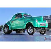 Willys  CUSTOM 1941 WILLYS GASSER STYLE COUPE IN GREEN METAL FLAKE