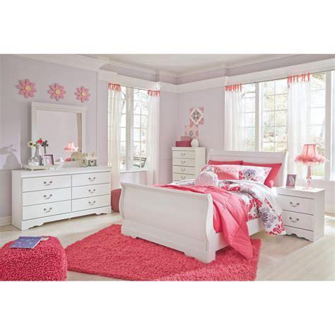 signature design  ashley anarasia full louis philippe sleigh bed household furniture