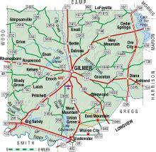 map of gilmer texas upshur county texas almanac