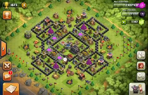 layout coc th9 anti giant the gallery for gt th8 clan war base layout