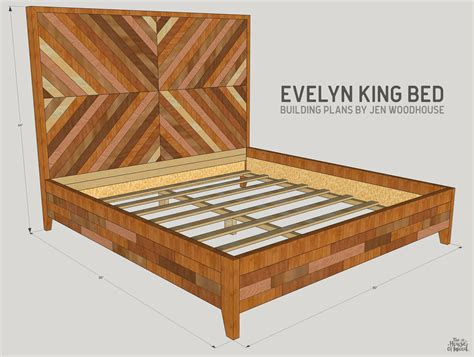 free king size bed frame diy west elm chevron bed king size building and