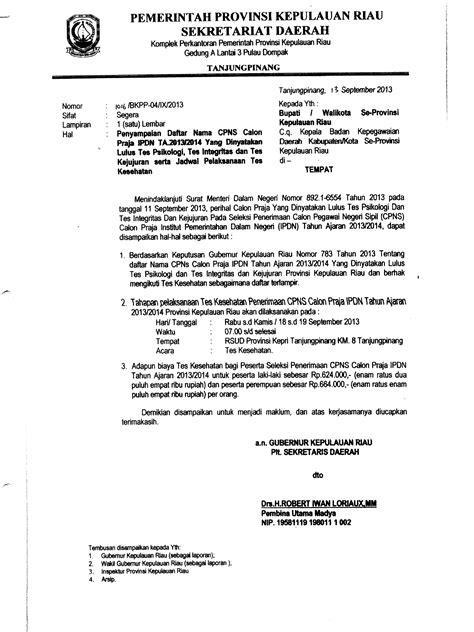 contoh surat pernyataan cpns tahun 2017 contoh surat