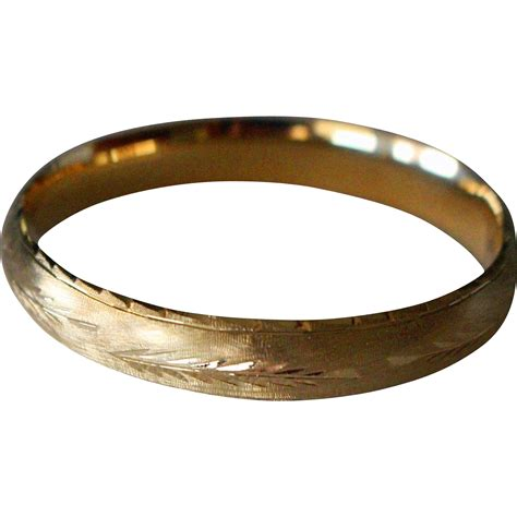 vintage 14k gold bangle bracelet expandable from