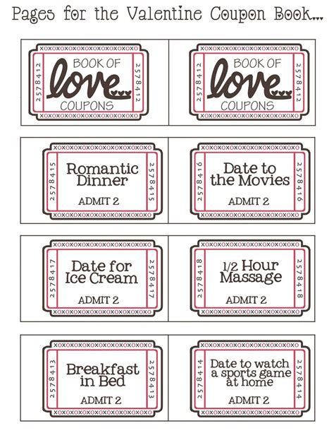 Handmade Coupon Book For Boyfriend - by day crafter by free printable
