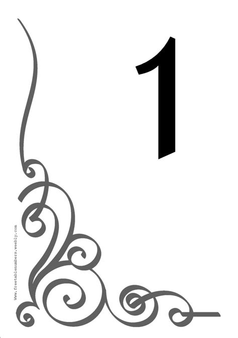 free flourish printable diy table numbers for your