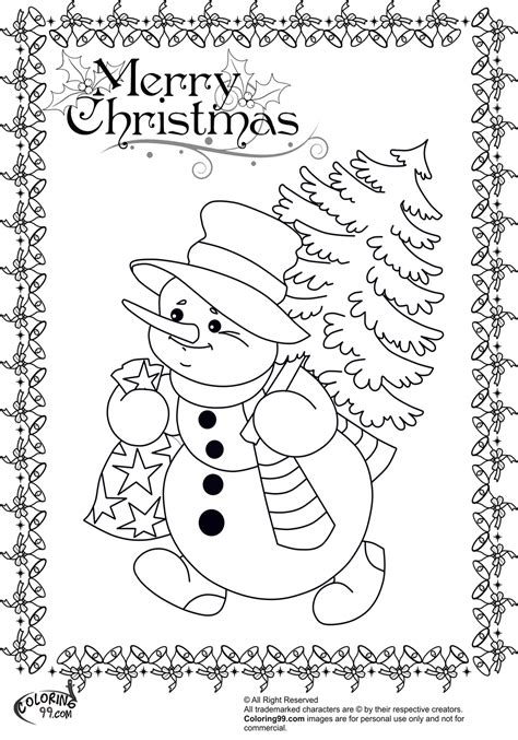 Free Coloring Pages Of Snowman Coloring Page Of Snowman