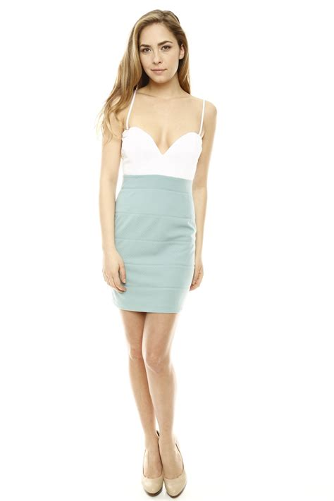 mint color dress ark co mint color block dress from miami by prinzzesa