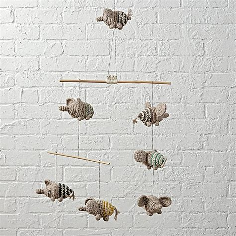 elephant mobile flying elephants baby mobile the land of nod